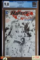 HARLEY QUINN #2 Cover C (2014 series) - 3rd Print Variant Cover - **CGC 9.8**